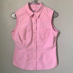 Roper Sleeveless Pearl Snap Shirt